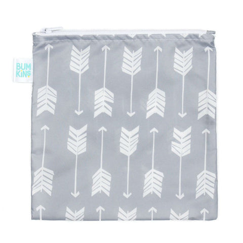 Bumkins Large Snack/Sandwich Bag - Grey Arrow