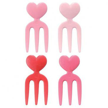 mini heart food fork picks NZ