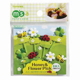 Flower Garden Food Picks (x8)