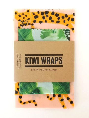 "Kiwi Wraps Reusable Sandwich Wrap - Lunch Pack ""Jungle"""