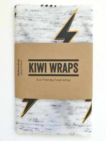 "Kiwi Wraps Reusable Sandwich Wrap - Medium ""Lightning Bolt"""