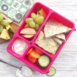 Go Green Break Box lunchbox - medium pink NZ