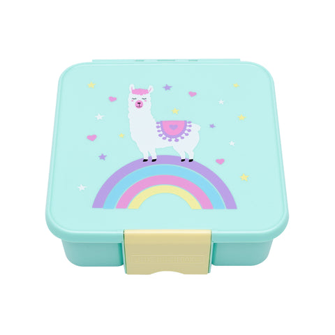 Bento Five Lunchbox - Llama (5 compartments). NEW DESIGN ARRIVING AROUND 23 MAY. PRE-ORDER NOW!