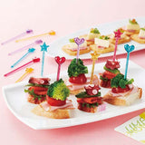 Extra Long 'Glitter Heart and Twinkle Star' Food Picks (x12)