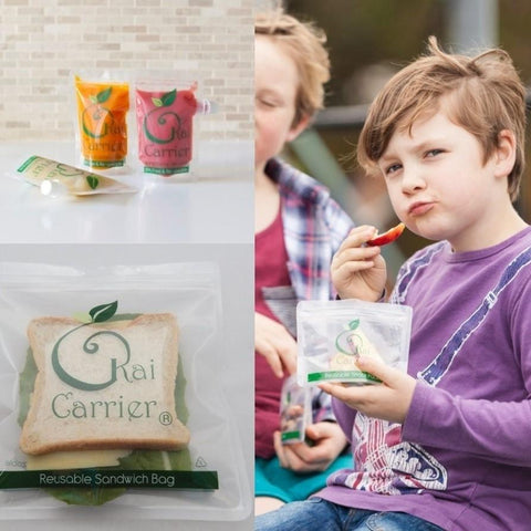 Kai Carrier Reusable Lunchbox Essentials Pack (pouches + snack bags + sandwich bags)