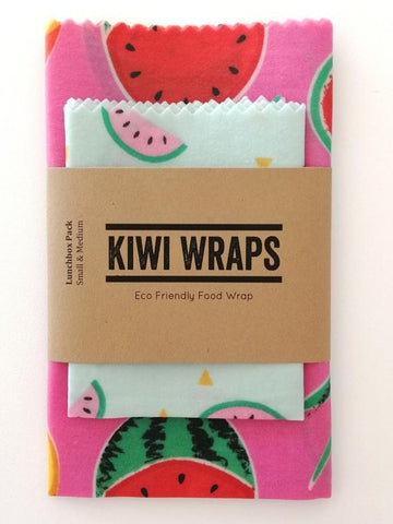 "Kiwi Wraps Reusable Sandwich Wrap - Lunch Pack ""Melon"""