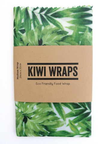 "Kiwi Wraps Reusable Sandwich Wrap - Medium ""Monstera"""