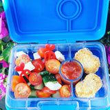 Yumbox MiniSnack Bento Lunchbox (3 compartments) – Coriander Green