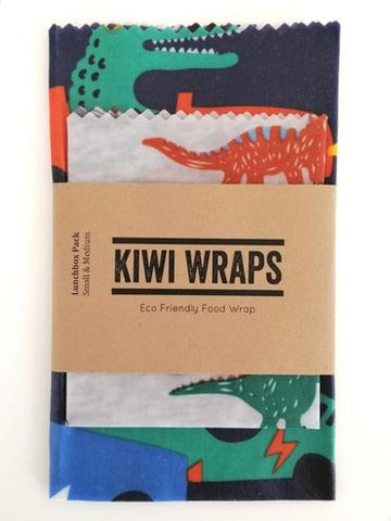 kids dinosaur beeswax sandwich wrap NZ