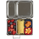 PlanetBox SHUTTLE Stainless Steel Bento Box - (3.5 Cups, 2 Large Compartments). ONLY 2 LEFT!