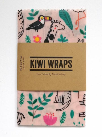 "Kiwi Wraps Reusable Sandwich Wrap - Medium ""Sleepy Jungle"""