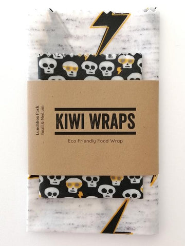 "Kiwi Wraps Reusable Sandwich Wrap - Lunch Pack ""Struck by Lightning"". LAST SET!"