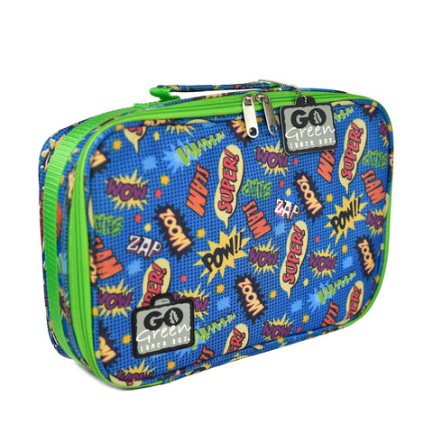 Go Green Lunch Set - Superhero. (Lunchbox + insulated bag + drink bottle + ice pack.) LAST ONE!