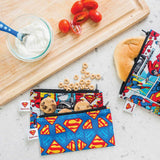 Superman superhero snack lunch bag NZ reusable