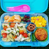 The Tapas Yumbox is large, leakproof, and very durable. Available from NZ's home of Yumbox - The Lunchbox Queen.