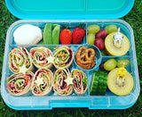 Yumbox Tapas Large Bento Lunchbox (5 compartments) – Nevis Blue. MORE EXPECTED EARLY DECEMBER.