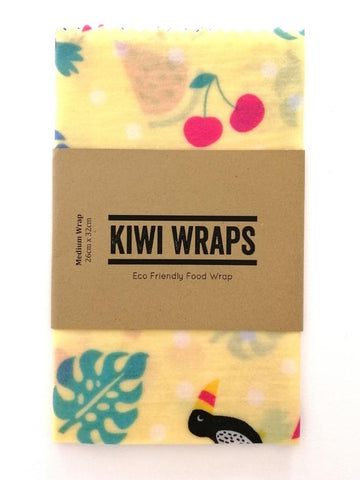 "Kiwi Wraps Reusable Sandwich Wrap - Medium ""Tutti Frutti"""