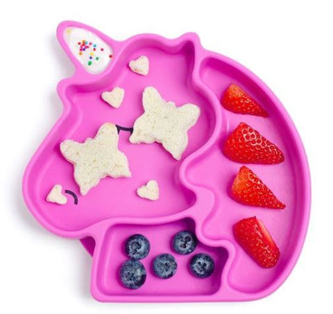 Bumkins Silicone Grip Dish - Unicorn. ONLY 3 LEFT!