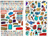 Goodbyn - Dishwasher Safe Lunchbox Stickers (over 150!) - Wacky Critters