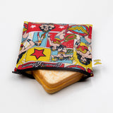 Bumkins Large Snack/Sandwich Bag - Wonder Woman. ARRIVING TUESDAY 1 DECEMBER.