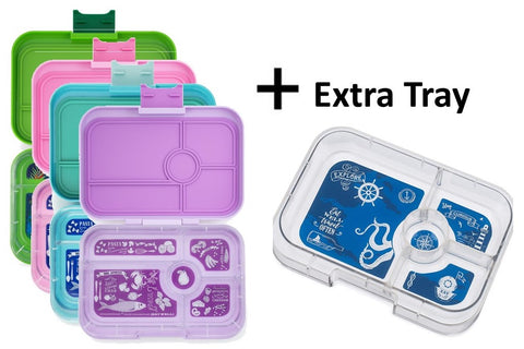Yumbox Tapas VALUE BUNDLE: 1 Complete Box + Extra Tray (lots of colour options). HURRY - LAST FEW LEFT!