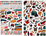 NZ lunchbox decal stickers personalise