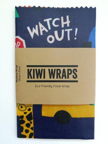 "Kiwi Wraps Reusable Sandwich Wrap - Medium ""Zoom Zoom"". LAST ONE!"