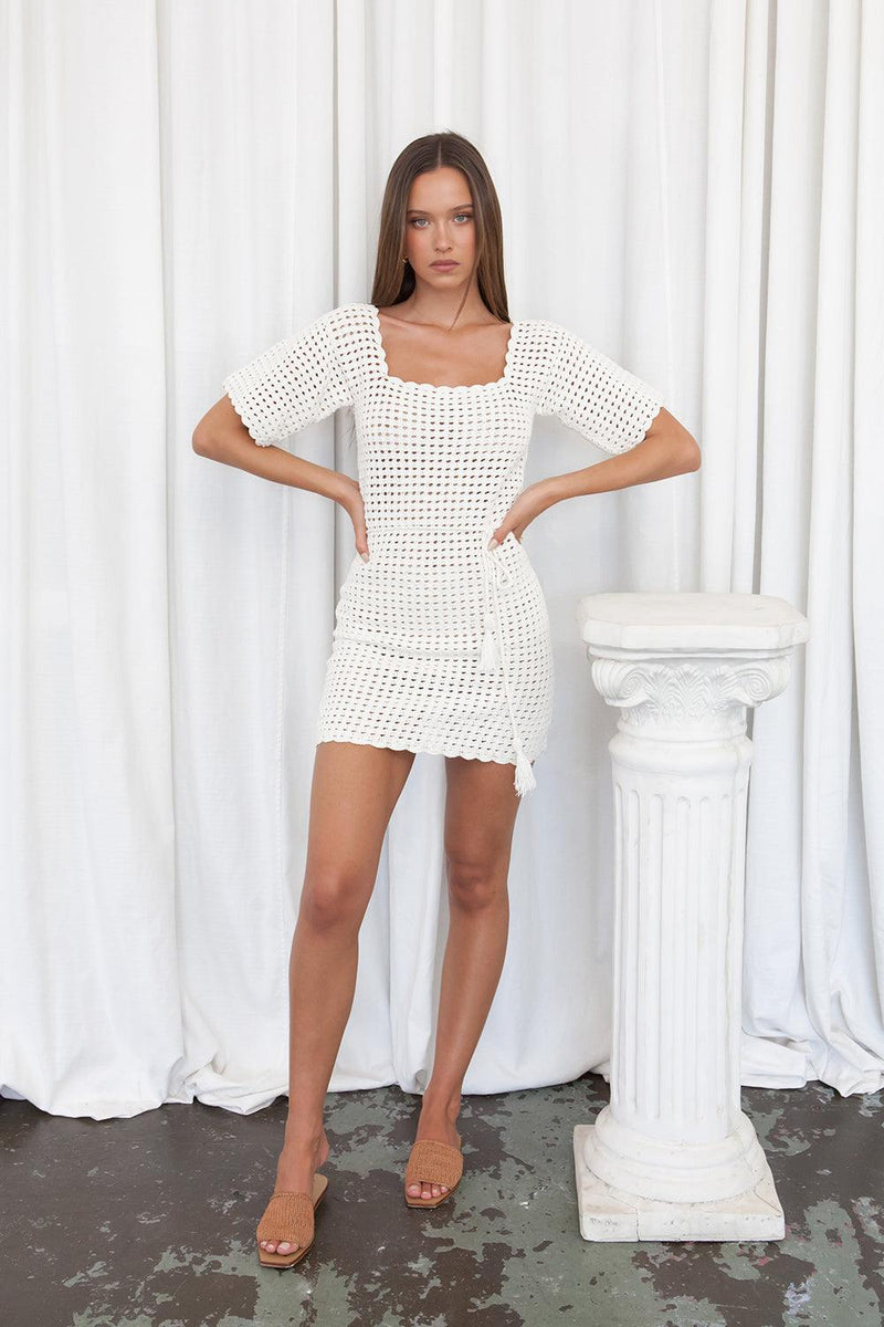 Sofia Mini Dress Ivory