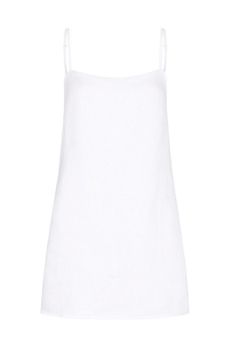 Valaree Mini Slip Dress White