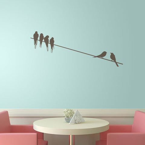 Birds On A Wire Wall Sticker Decal