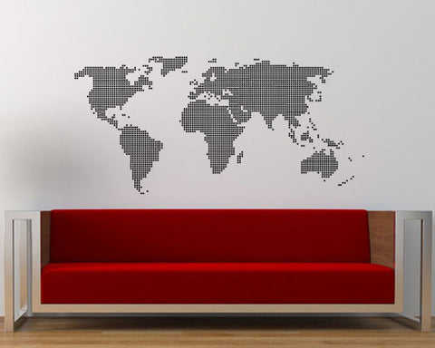 World map wall sticker decal dotted world map blingding philippines dotted world map wall sticker decal gumiabroncs Gallery