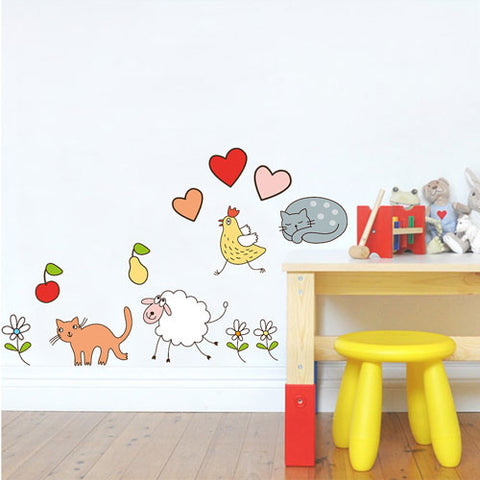 kids wall sticker decal - farm animals – blingding philippines
