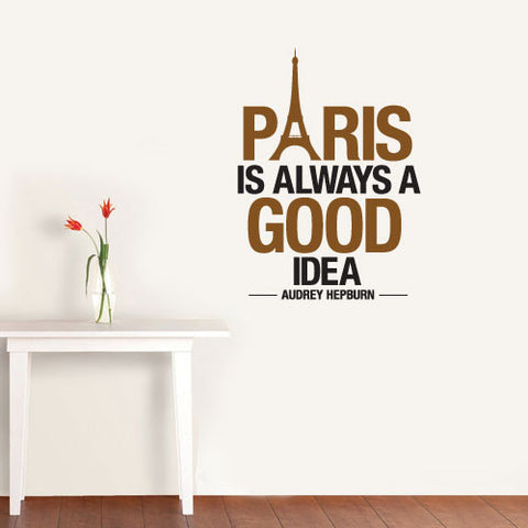 Paris Audrey Hepburn Wall Sticker Decal