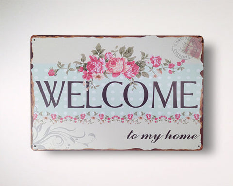 BlingDing Philippines Welcome Home Retro Vintage Sign