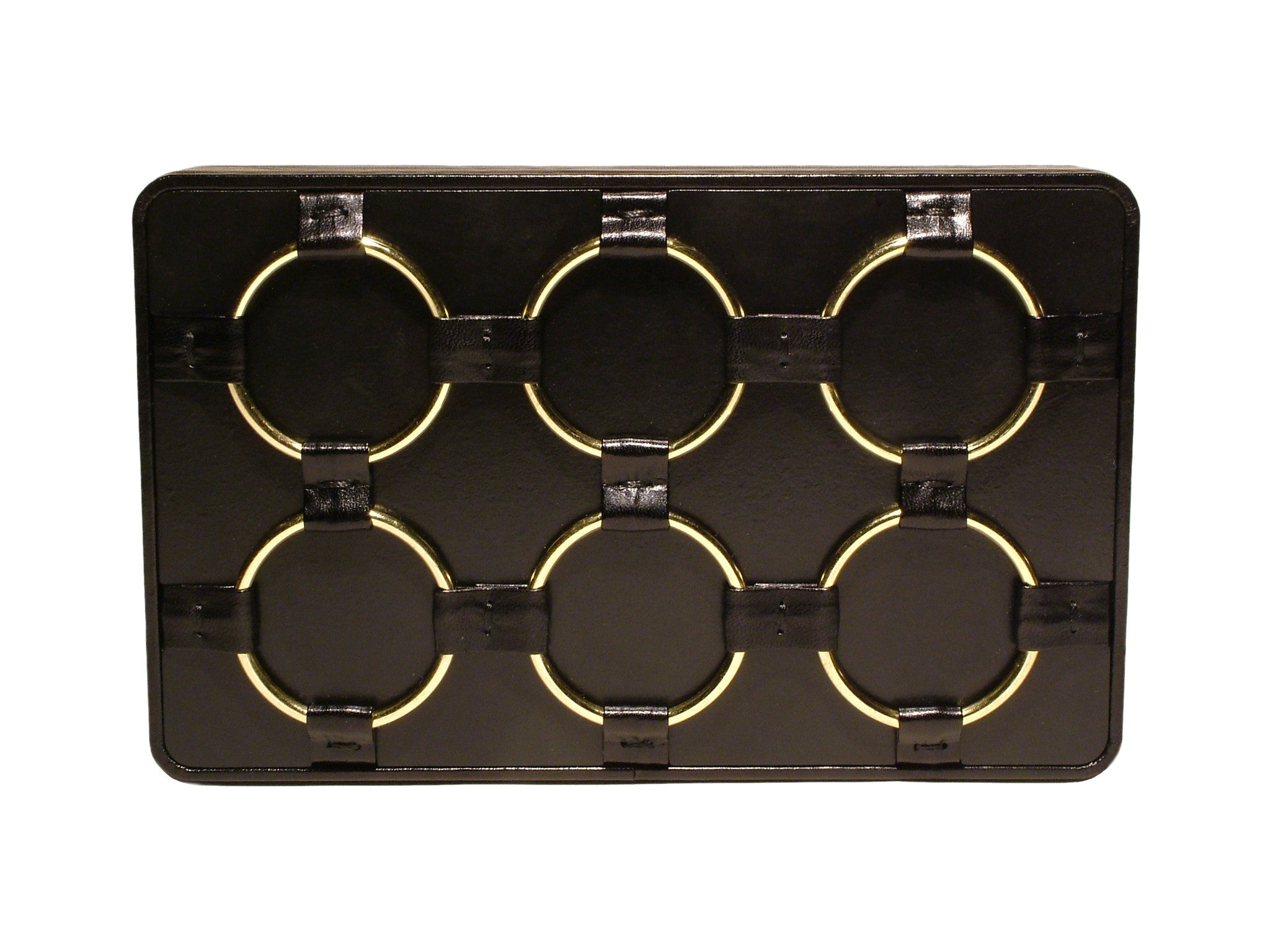 Box Clutch with Brass Rings