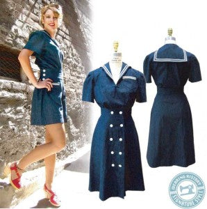 SHORTS ONE - Sailor Girl Playsuit - Wearing HIstory