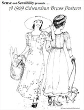 Load image into Gallery viewer, 1909 Edwardian Gown Pattern