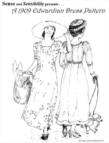 1909 Edwardian Gown Pattern