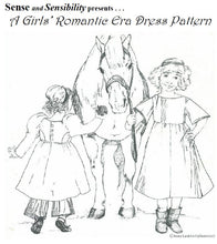 Load image into Gallery viewer, Girls' Romantic Era Dress Pattern