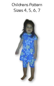 Children's Swimwear Pattern sizes 4,5,6,7