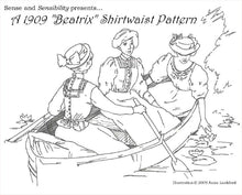 "Load image into Gallery viewer, 1909 ""Beatrix"" Shirtwaist Pattern"