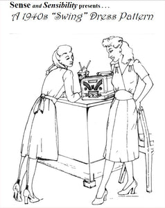 "1940s ""Swing"" Dress Pattern"