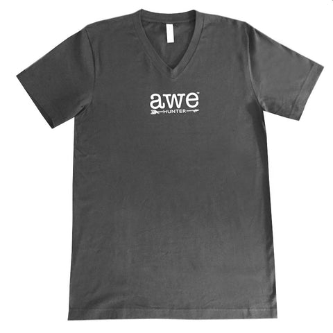 Awe Hunter Dark Gray Short Sleeved T-Shirt