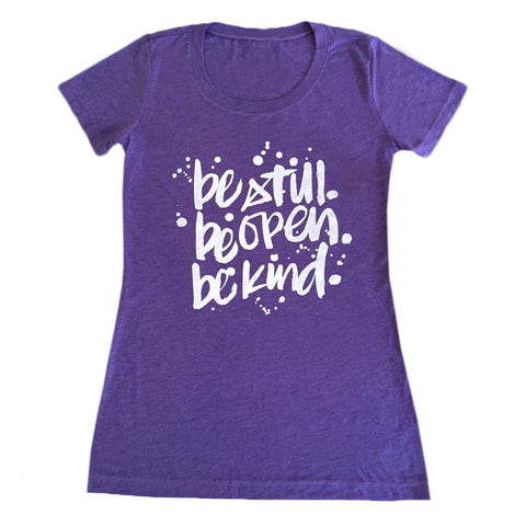 T-shirt - Be Still - Purple