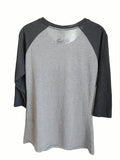 Long Sleeve Raglan - Love - Fitted/Heather and Dark Grey