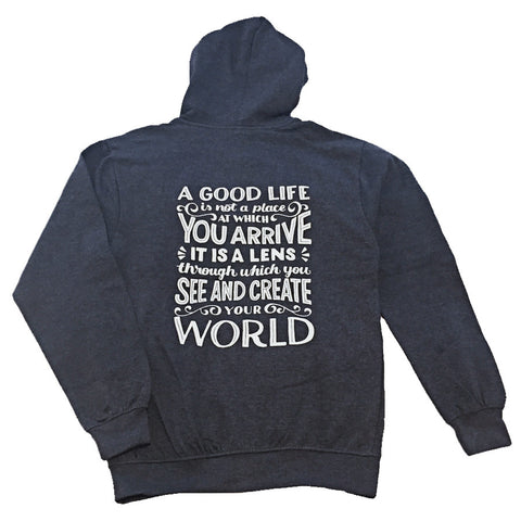 Hoodie - Create Your World - Unisex/Dark Grey