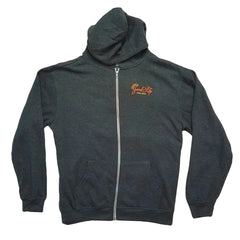 Peace - Love - Light Dark Grey Zip-Up Hoodie