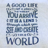 Hoodie - Create Your World - Unisex/Sky Blue