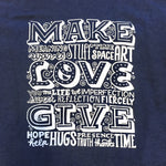 Hoodie - Make Love Give - Unisex/Navy Blue