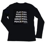 Long Sleeve - Play/Full, Soul/Full - Black